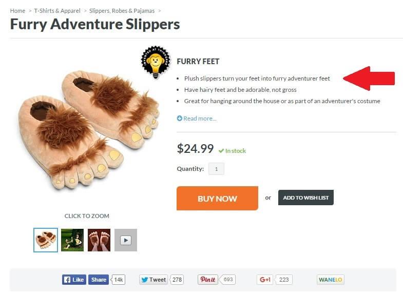 feet product description