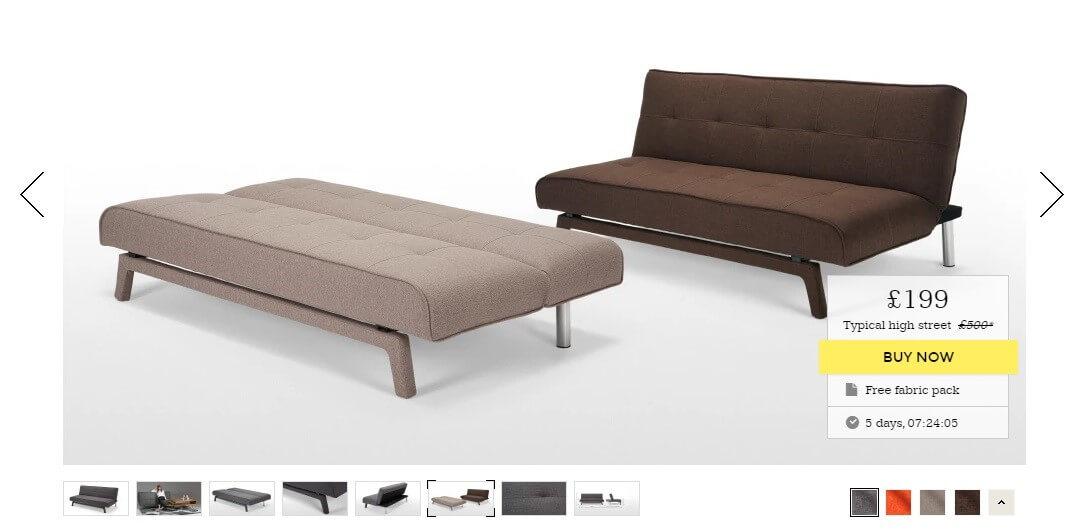 product description sofas