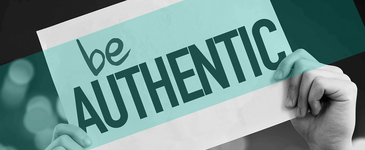 Be authentic when writing content