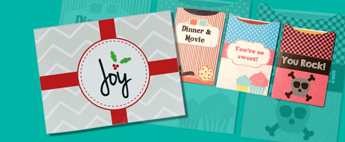 Create printable gift cards
